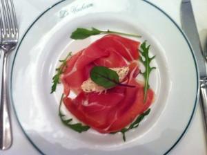 Bayonne ham, celeriac rémoulade & gherkins