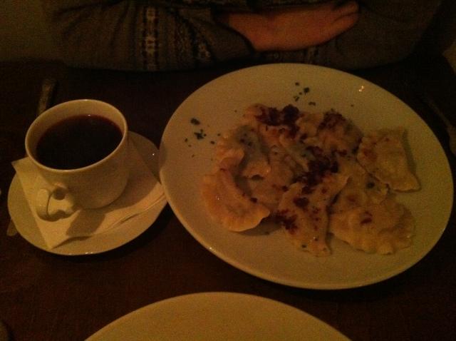 Borscht and mixed Perogi