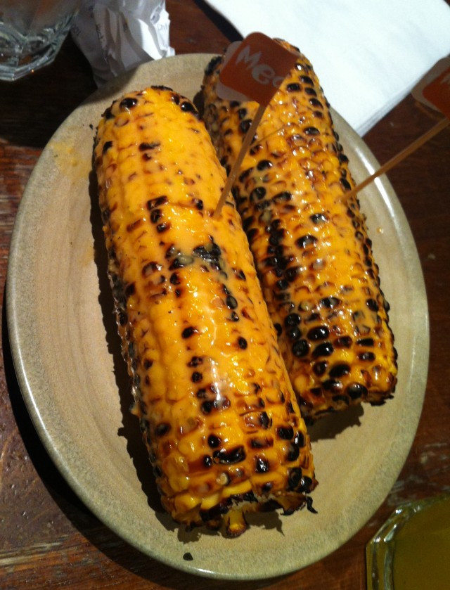 Lubricated corn on the cob.