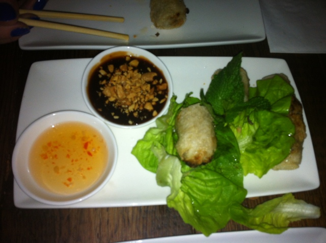 Deep fried pork spring roll