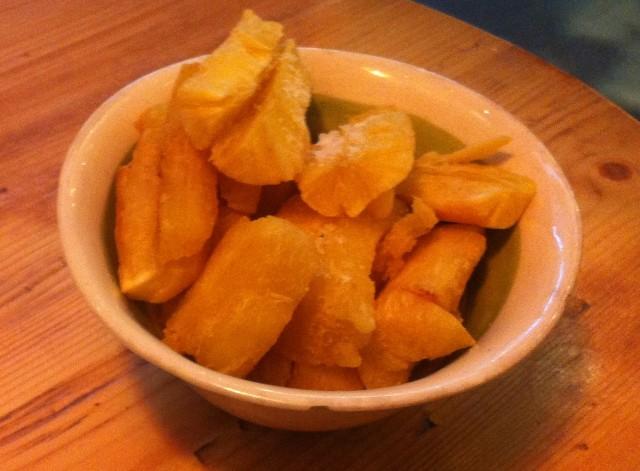 Cassava Chips. Sort of like parnips.