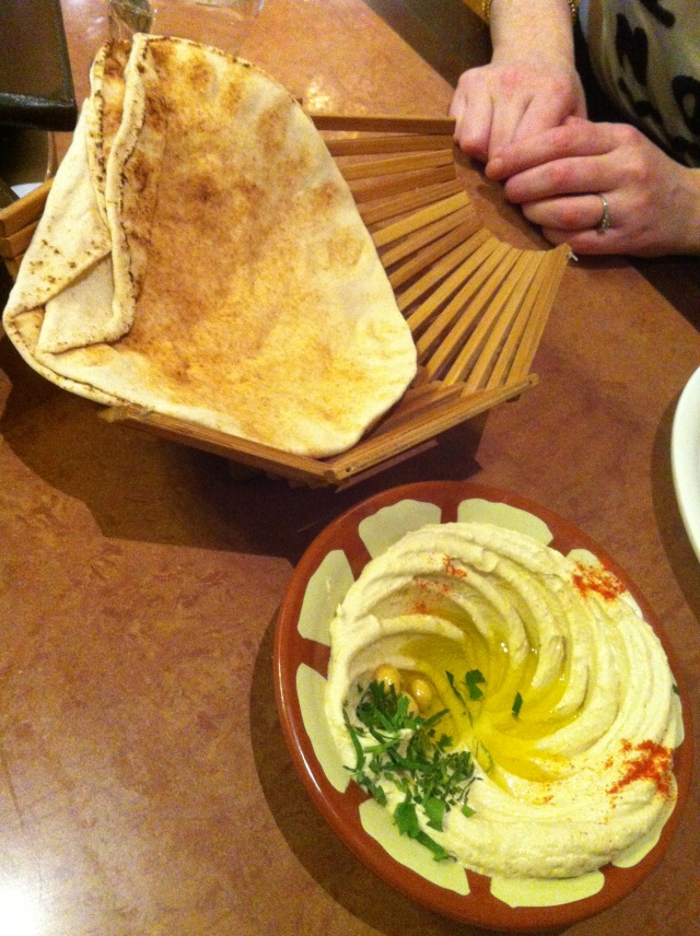 The homous. Or hummus. Or Hommus.