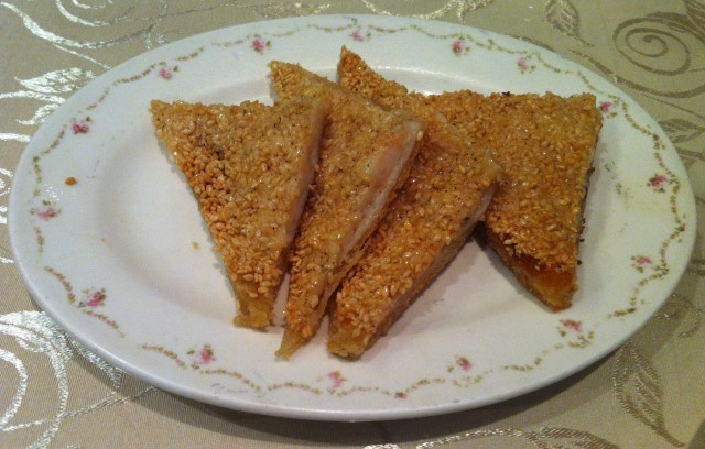 Prawn toast. Just like in China