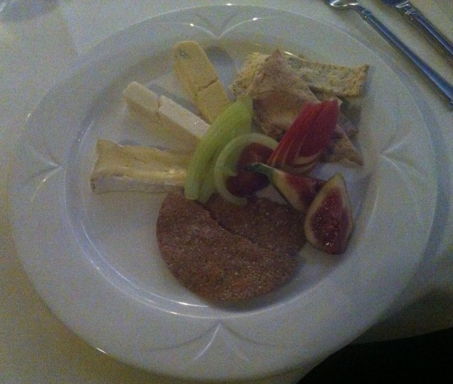 Cheese plate. Which was actually china.