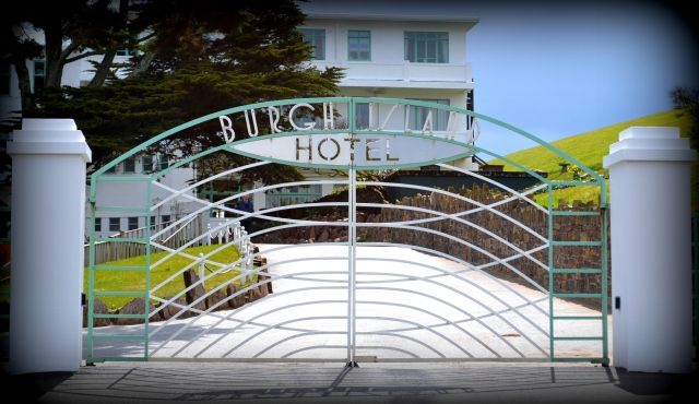 Entrance to Burgh Island Hotel.