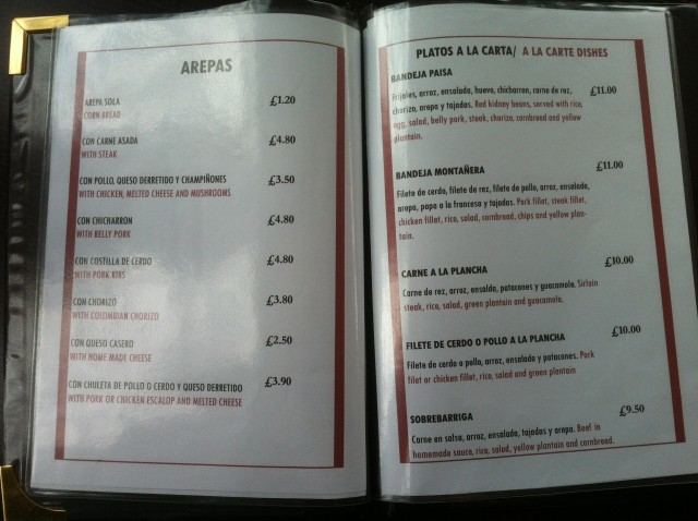 The best sort of menu - simple and crammed with MEAT.