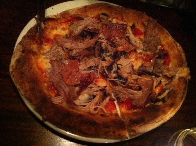 Pork Belly Pizza. What's next? The Fry-Up Pizza? Wait there ... TRADEMARK! That's Charlie's idea.