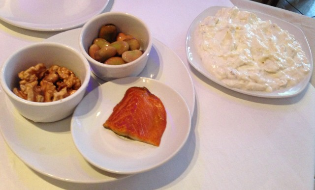 Does the aubergine goo on the right not look more special than the special starter?