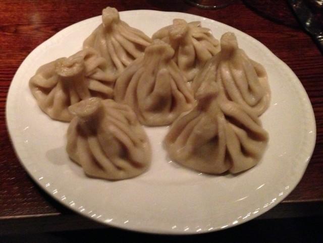 """Khinkali dumplings. It looks like my GCSE art project, simply entitled """"Dumplings I shall eat in 2013 in clay."""" Grade U (ungraded)"""