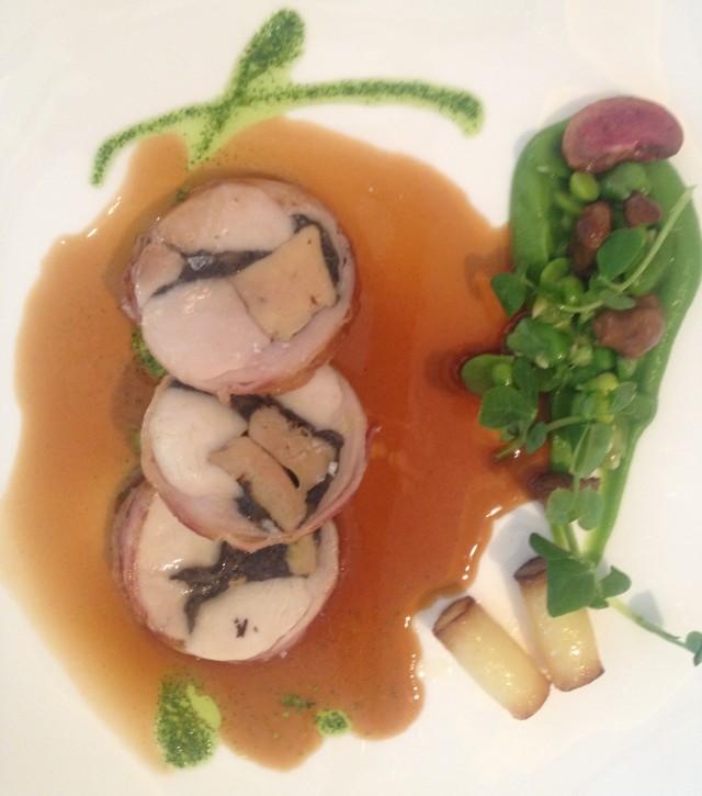 Wabbit with foie gras.