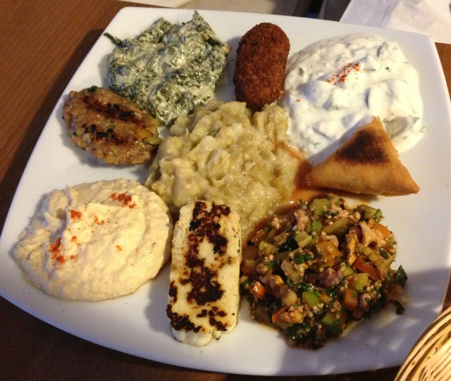Didn't I tell you about the Mixed Meze? What fools we were to not order this.