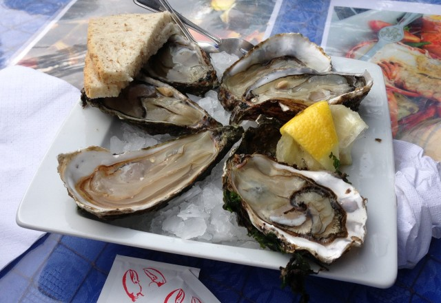 Zeeland Oysters. Big, fat and a good start for lunch.