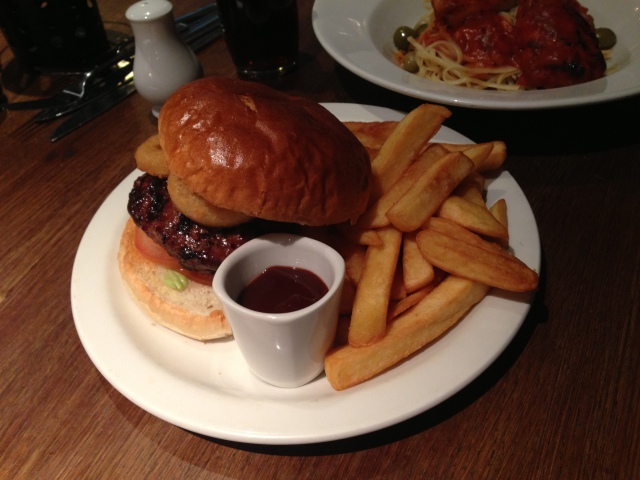 The venison and pork burger. Hmmmm