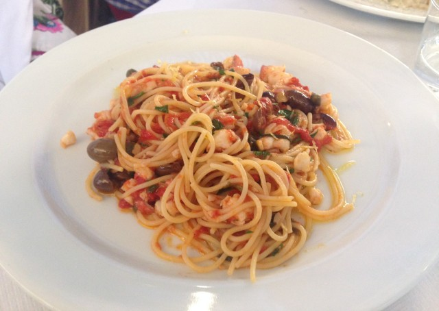 Spaghetti with Red Mullet. I loved him with Ginger Rogers.