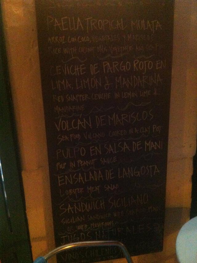 El especial menu.