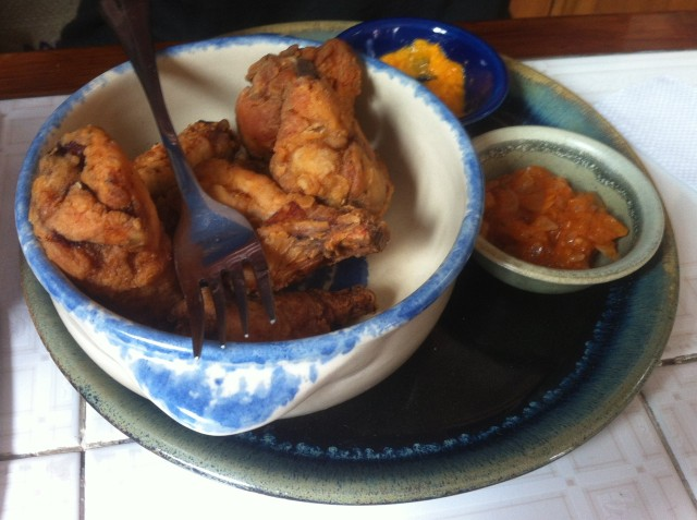 Shakira Wings, prepared after the owner's grandmother's recipe. She's well preserved I'd say!