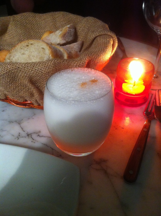 The only pisco sour of my trip. I traced the roots of my hangover to this moment.