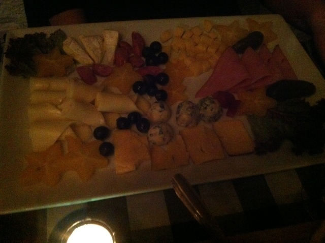 Platter 1. That's a lot of (not very exciting) cheese.