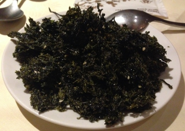 Actual, proper seaweed. Good stuff. Though it does look unappetising.