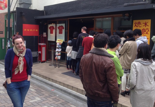 There's always a queue for Gyoza Lou. It's like Dallas Buyer's Club but more serious.