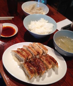 I honestly don't know how I kept it together long enough to take this photo. In fact, I don't remember taking it. Surely my prime directive would have overridden  any photographic urge. My prime directive: to eat those gyoza.