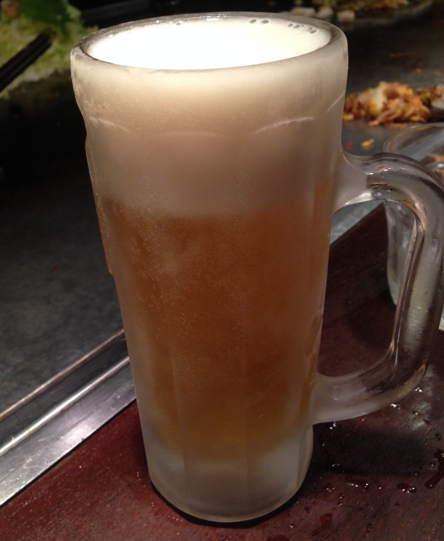 The frosted beer flagon: hallmark of the civilised world. That and plumbing.