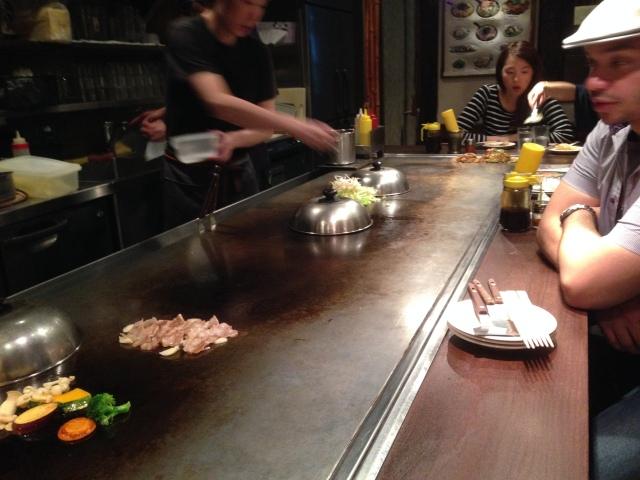 Okonomiyaki: Dinner and a show.