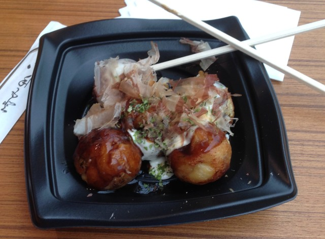 Takoyaki, even first thing in the morning this is jolly enticing.