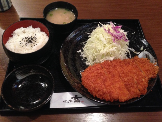 Classic tonkatsu - I've yet to apply the nice sweet brown sauce.