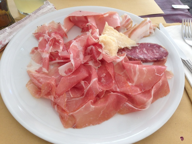 I ate Parma ham in Parma. What did you do last weekend?