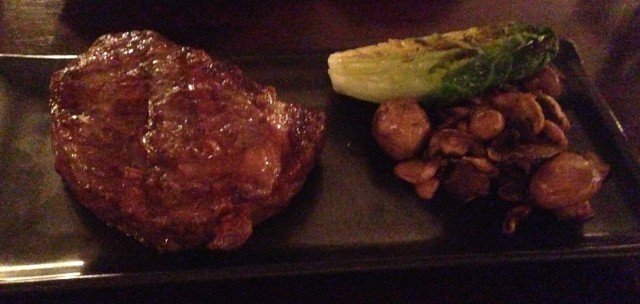 My delicious ribeye. Or was it Mrs Del Monte's sirloin? Balls.