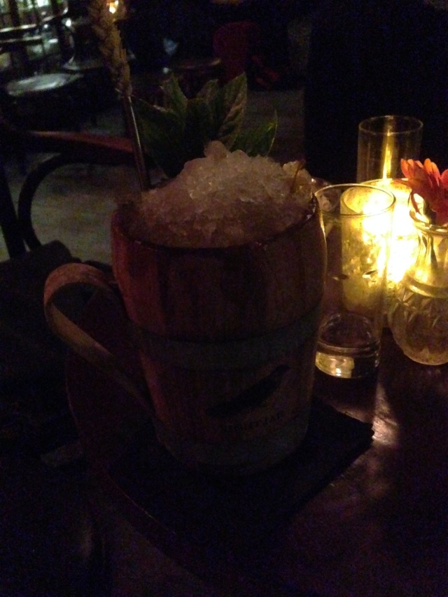 A flagon of cocktail. If Gimli was to order a cocktail, this would be the one he would choose.