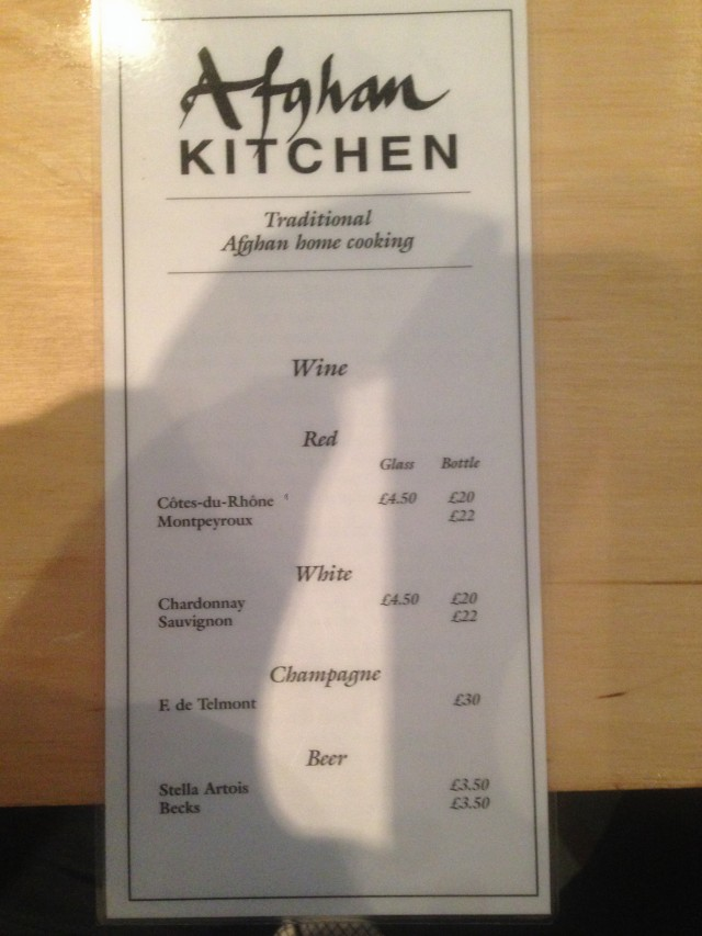 Booze menu. If brevity is the essence of wit then this is hilarious.