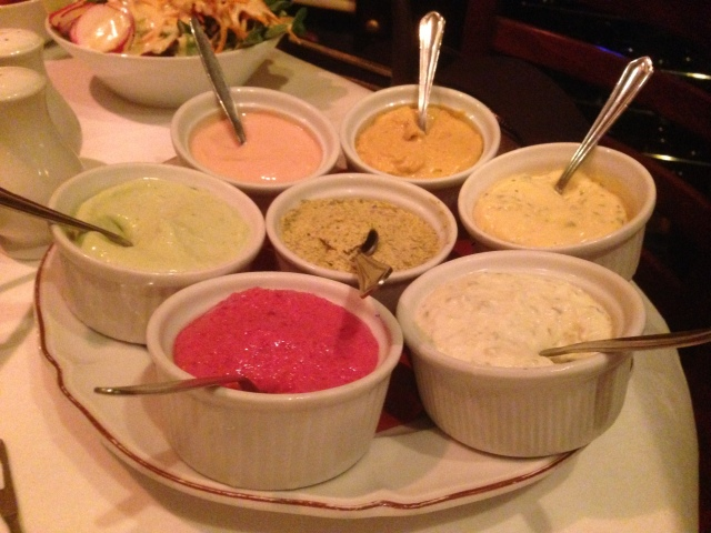 That's an impressive collection of dips! My urologist says much the same to me during our weekly appointments.
