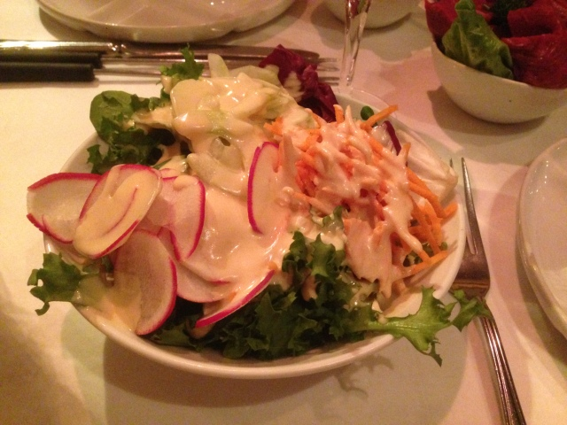 "That's a big salad. They had every reason to add ""special sauce"" but my hope is that they didn't."