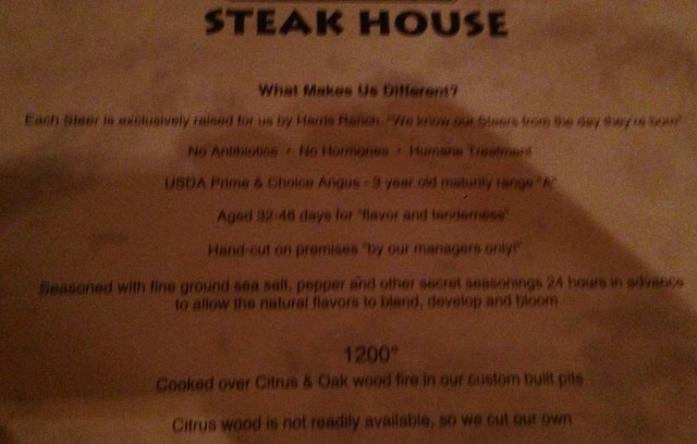 A bit blurry, but they make claims that few other restaurants in Orlando can.