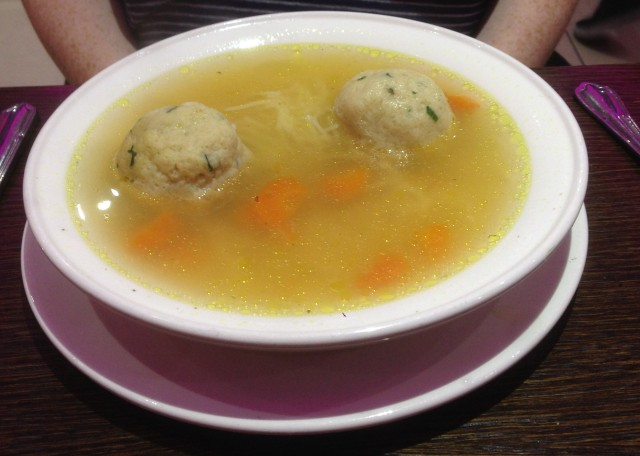 Those are Matzo balls. Ah, the majestic Matzo striding gracefully across the plains of Galilee. We've eaten your balls.