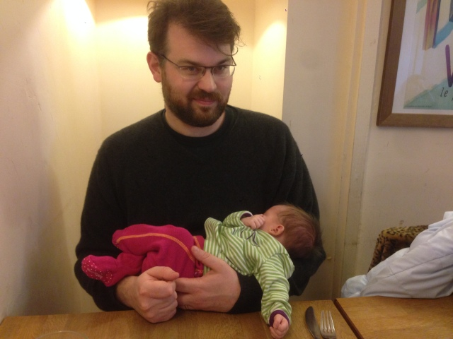 People say I'm a good father because when I talk the infant falls asleep.