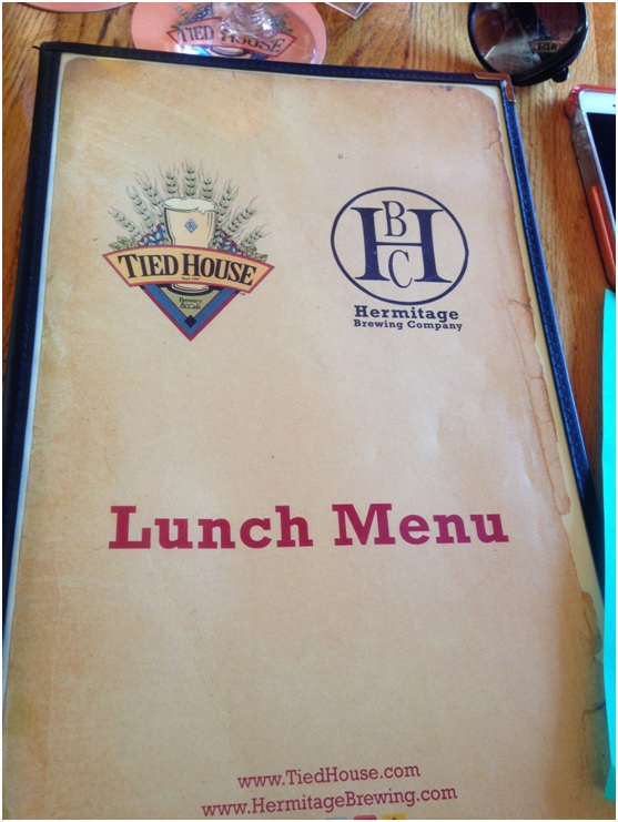 Lunch menu. Not breakfast. No dinner. Just lunch.