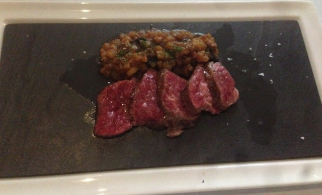 I know the stuff above the wagyu looks like lentils, but I promise you it wasn't.