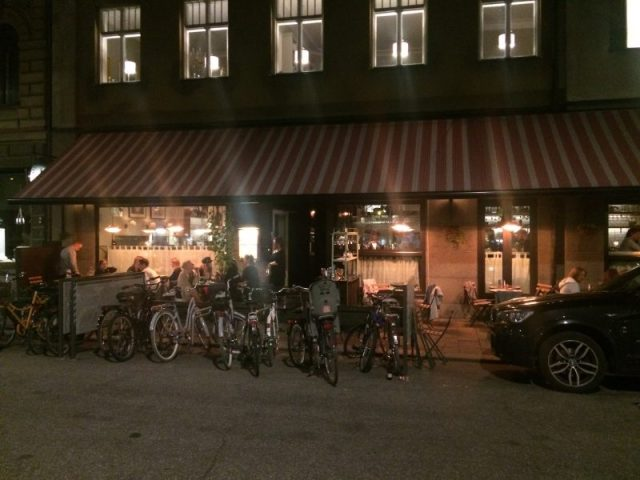 Exterior of Nybrogatan 38. Hey, Nybrogatan 38, the Netherlands called: They want their bicycles back! Stockholm slam!!
